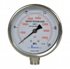 Sanitary High Pressure Gauge 35,000psi